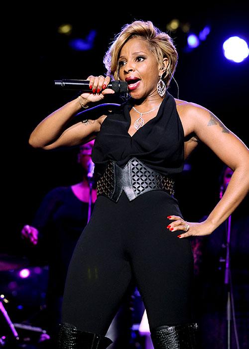 Marc Anthony, John Legend y Mary J. Blige en la fiesta previa del SuperBowl
