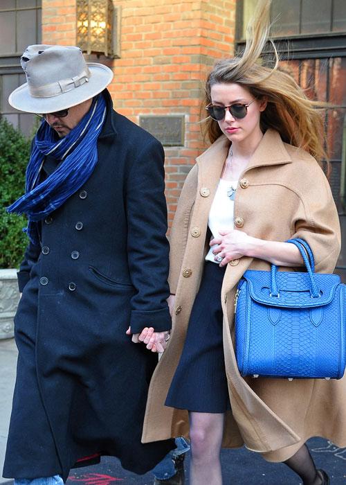 Johnny Depp y Amber Heard celebraron su compromiso