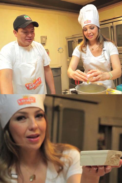 """Thalía, panadera en """"Así es como lo hacemos"""""""